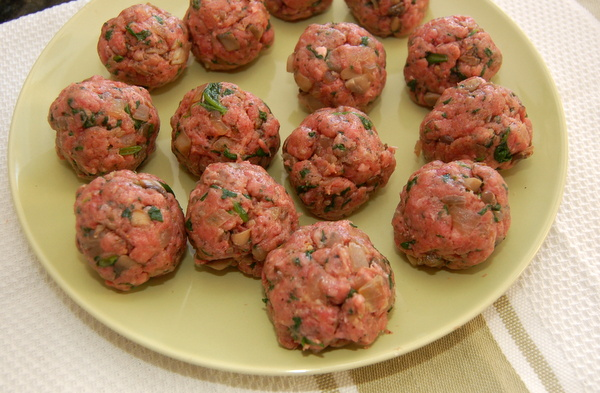 Form mixture into balls. Don't pack too tightly.