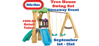 Little Tikes Tree House Swing Set Giveaway
