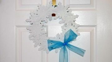 Frozen Inspired Winter Wreath