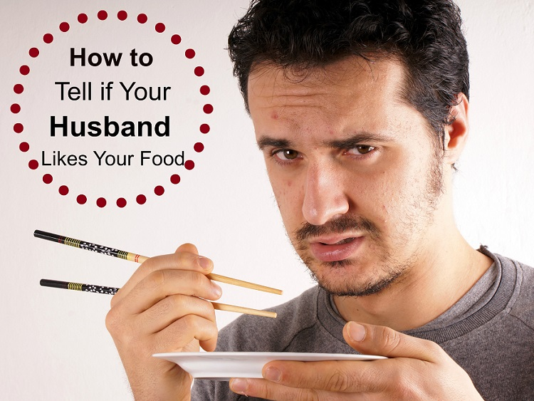 Husband eating wife's cooking