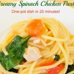 Creamy Spinach Chicken Pasta: One-pot dish in 20 minutes