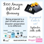 Be Prepared $100 Amazon Gift Card Giveaway
