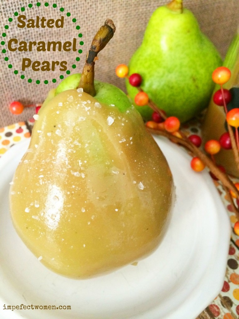 recipe salted caramel pears