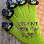 Halloween Witch Hat Finger Play Gloves