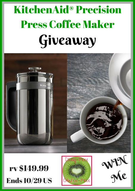 French Press Coffee Maker With Timer : KitchenAid Precision Press Coffee Maker Giveaway