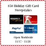 $50 Holiday Gift Card Sweepstakes