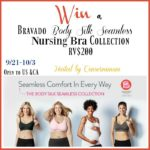 Bravado Silk Seamless Nurse Bra $200 Collection Giveaway #seamlesscomfort