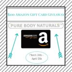 Pure Body Naturals $100 Amazon GC Giveaway