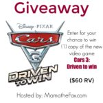 Cars 3: Driven to Win Giveaway