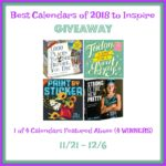 Best Calendars of 2018 to Inspire Giveaway
