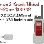 Motorola Talkabout T480 Walkie Talkie Set Giveaway