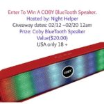 Coby Bluetooth Speaker Giveaway
