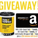 Tub O' Towels Plus $50 Amazon Gift Card Giveaway