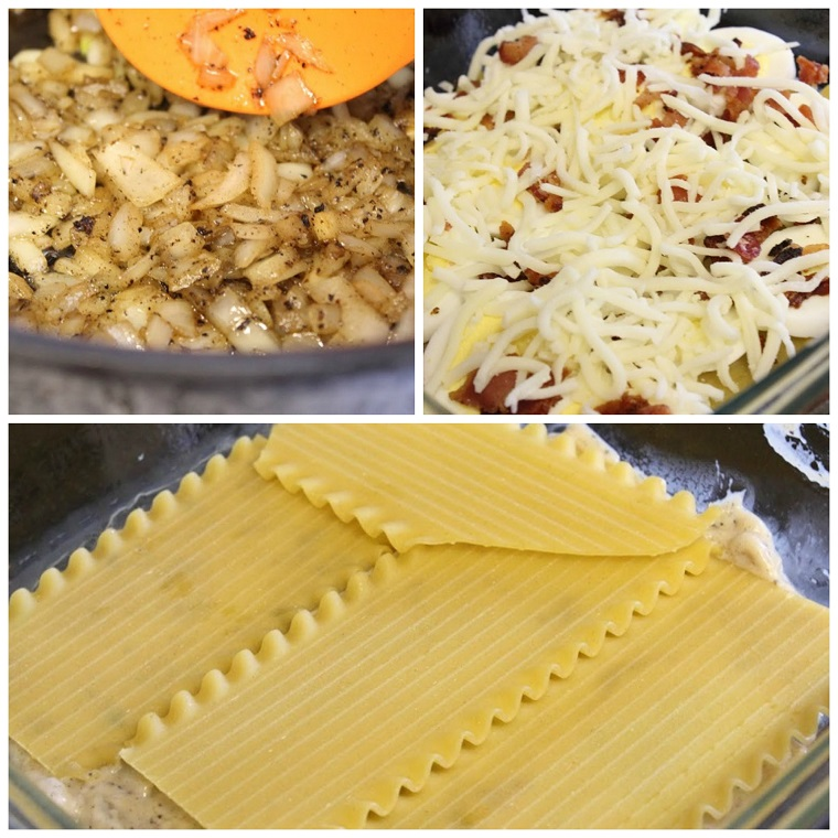 Breakfast Lasagna collage