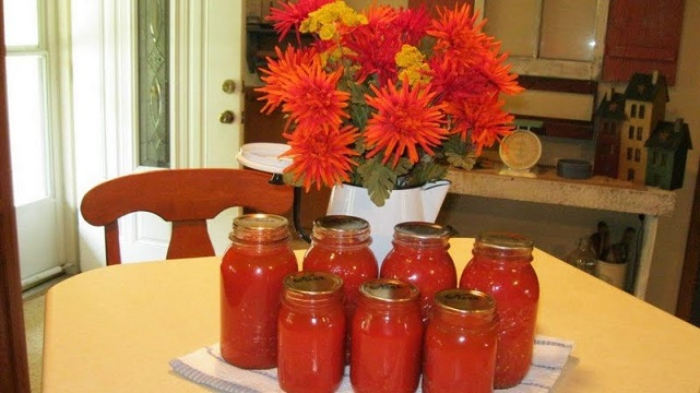 Tomatoes in a jar