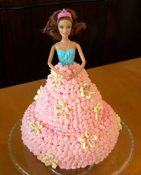 Easy Doll Cake Images : Easy Instructions for making a Barbie Doll Cake From Scratch