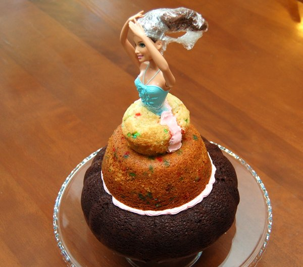 Homemade Doll Cake