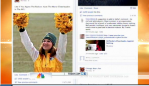 Green Bay Packer Cheerleader cyberbullied
