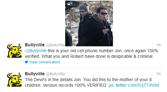 Bullyville Shows Text Messages Prove Jon Gosselin Gave Kate's Hard Drive To Author For Profit And Revenge