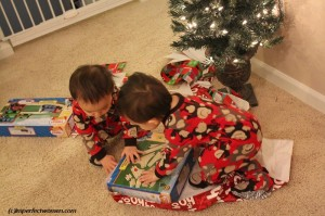 Christmas with twins